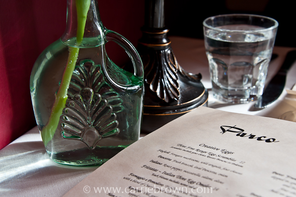 Cafe Parco menu