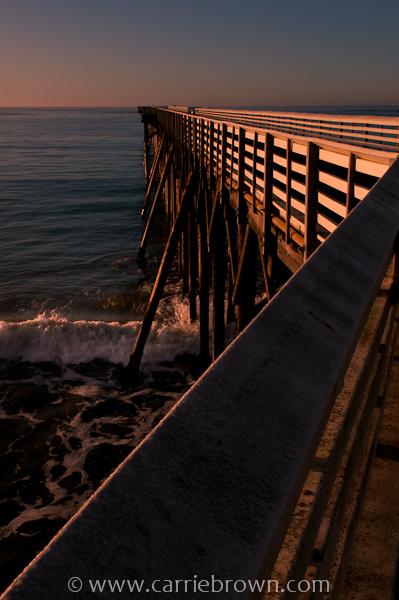 Pier at William R. Hearst Memorial State Beach, California