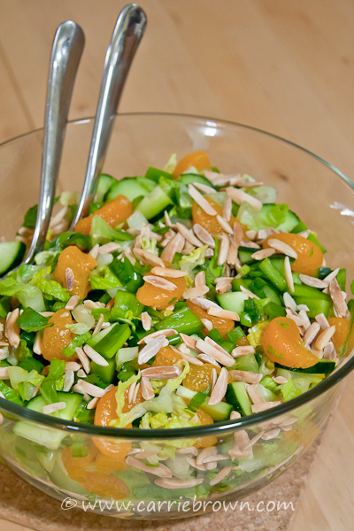 Mandarin Orange and Almond Salad