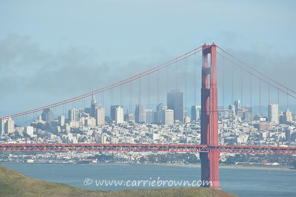 Golden Gate Bridge and city view, San Francisco