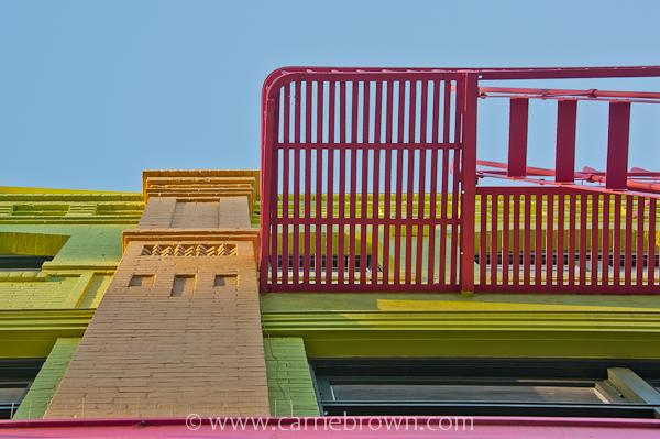 Fire escape, China Town, San Francisco