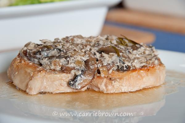 Creamy Pork Chop Parcels