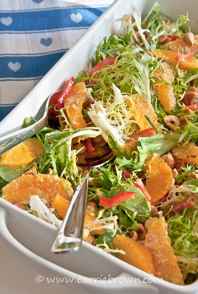Orange Hazelnut Frisee Salad