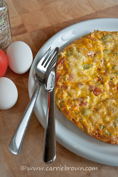 Sweet Pepper and Tomato Frittata