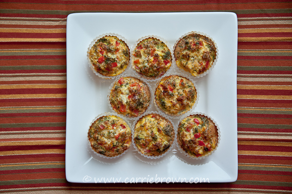 Broccoli and Red Pepper Quiche Cups