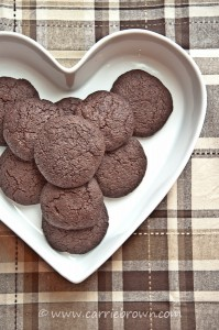 Dark Chocolate Espresso Cookies