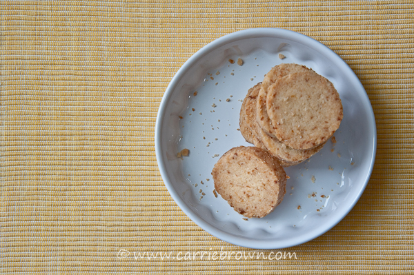 Lemon Shortbread Cookies | Carrie Brown