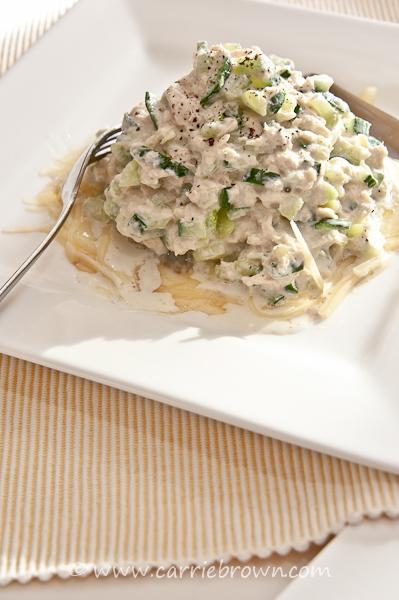 Mushroom Tuna Melt | www.carriebrown.com