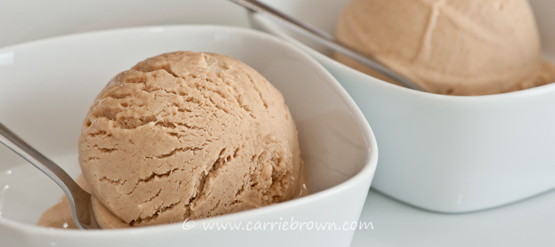 Peanut Butter Ice Cream | www.carriebrown.com